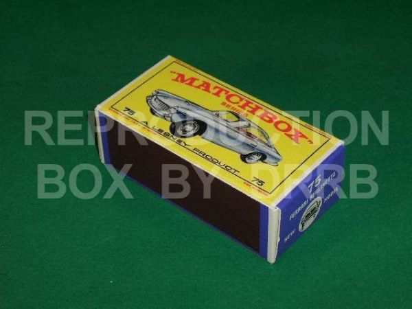 Matchbox 1-75 #75 Ferrari Berlinetta - Reproduction Box